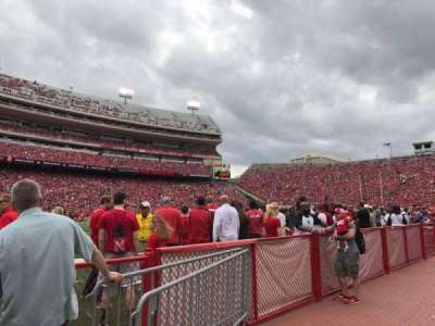 Memorial Stadium (Lincoln), section: 31, row: Field Level