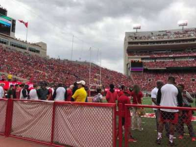 Memorial Stadium (Lincoln), section: 30, row: Field Level