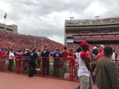 Memorial Stadium, section: 29, row: Field Level