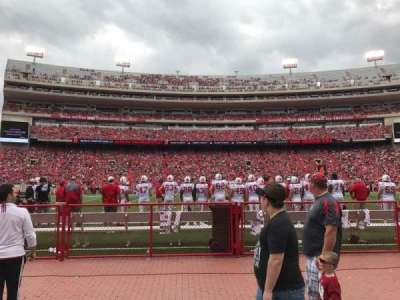 Memorial Stadium, section: 27, row: Field Level