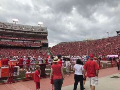 Memorial Stadium (Lincoln), section: 26, row: Field Level