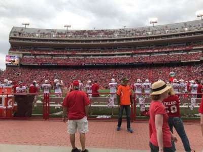 Memorial Stadium, section: 25, row: Field Level