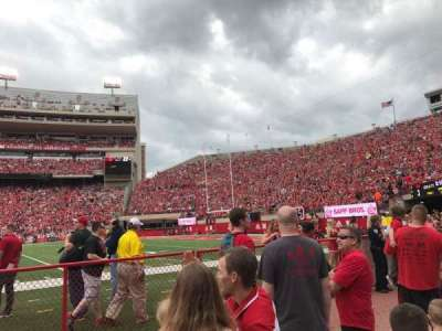 Memorial Stadium (Lincoln), section: 23, row: Field Level