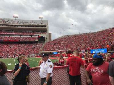 Memorial Stadium, section: 22, row: Field Level