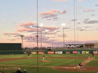 Goodyear Ballpark, section: 110, row: R, seat: 1