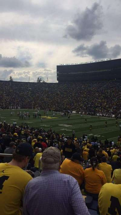 Michigan Stadium, section: 40, row: 36, seat: 14