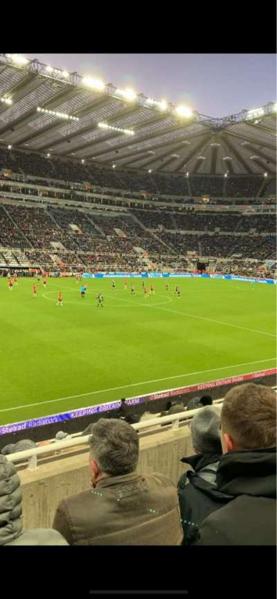 St James' Park, section: L, row: C, seat: 163