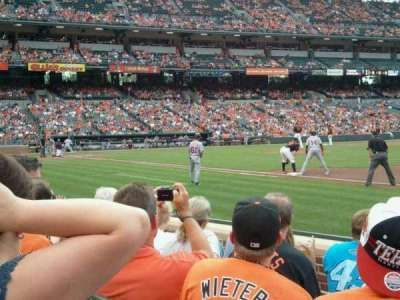 Oriole Park at Camden Yards section 16