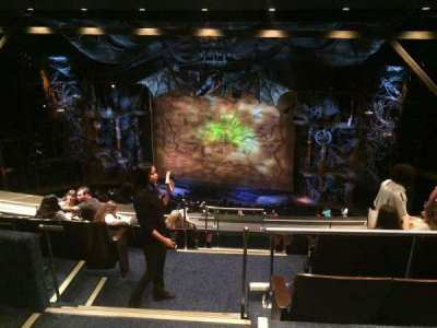Gershwin Theatre, section: Rear Mezzanine R, row: H, seat: 2