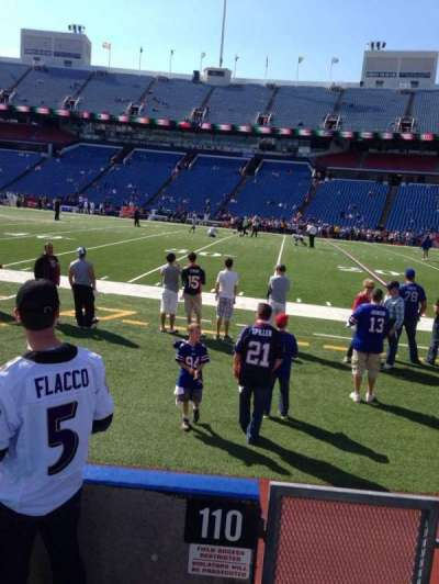 New Era Field, section: 110, row: 3, seat: 9