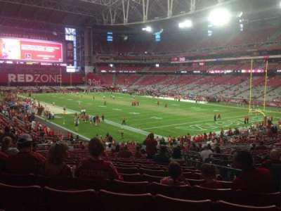 University of Phoenix Stadium, section: 121, row: 37, seat: 22