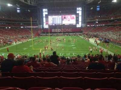 University of Phoenix Stadium, section: 118, row: 36, seat: 11