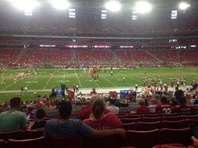 University of Phoenix Stadium section 110