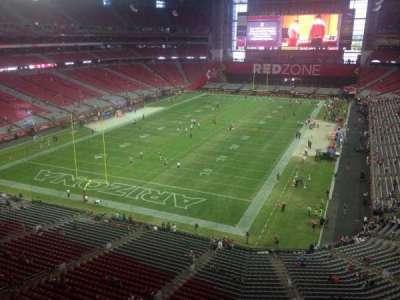 University of Phoenix Stadium, section: 425, row: A, seat: 1