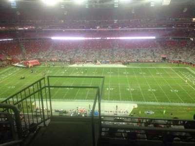 University of Phoenix Stadium, section: 442, row: 3, seat: 18