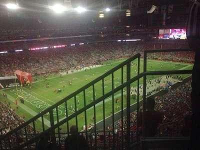 University of Phoenix Stadium, section: 452, row: 1, seat: 1