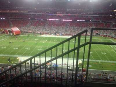 University of Phoenix Stadium, section: 446, row: 2, seat: 1