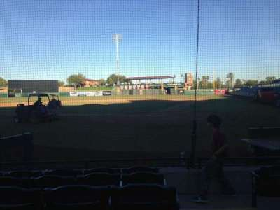 Scottsdale Stadium, section: 105, row: F, seat: 1