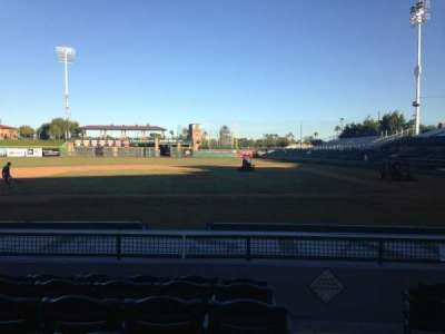 Scottsdale Stadium, section: 111, row: H, seat: 1