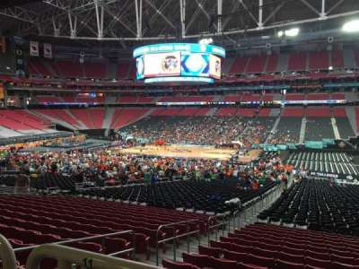 University of Phoenix Stadium, section: 105, row: WC, seat: 10