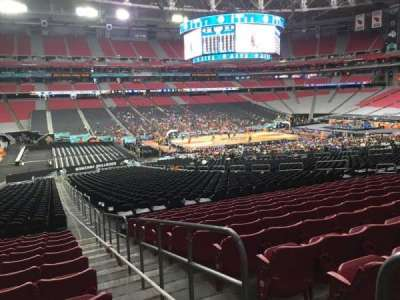 University of Phoenix Stadium, section: 134, row: 37, seat: 1