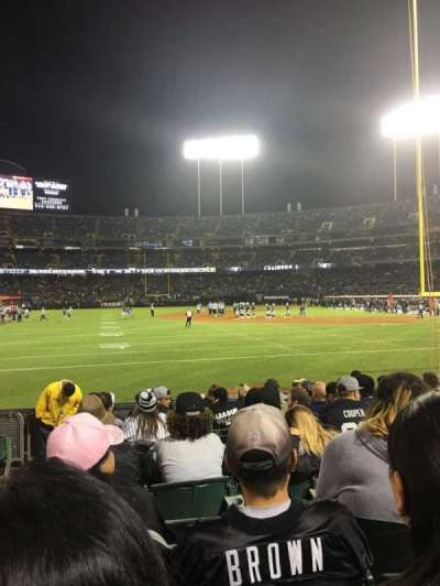Oakland Alameda Coliseum section 129