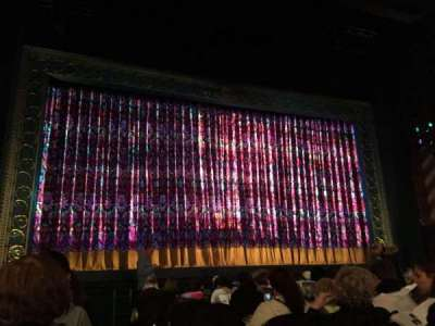 Lunt-Fontanne Theatre, section: ORCH, row: M, seat: 1