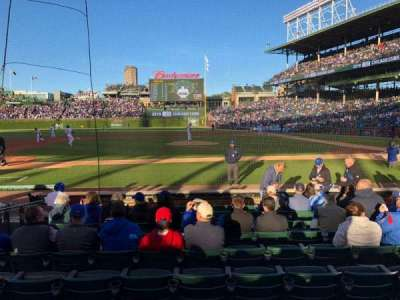 Wrigley Field, section: 14, row: 6, seat: 5