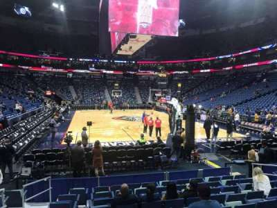 Smoothie King Center, section: 119, row: 6, seat: 11