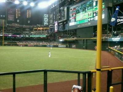Chase Field, section: 108, row: 25, seat: 9