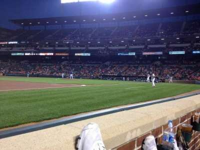 Oriole Park at Camden Yards, section: 56, row: 1, seat: 10
