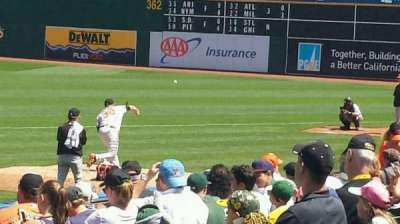 Oakland Alameda Coliseum, section: 110, row: 13, seat: 16