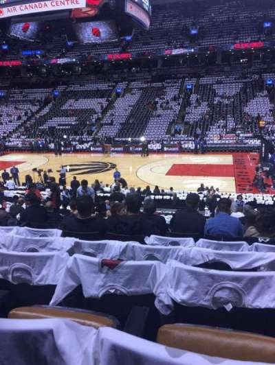 Air Canada Centre, section: 107, row: 19, seat: 13