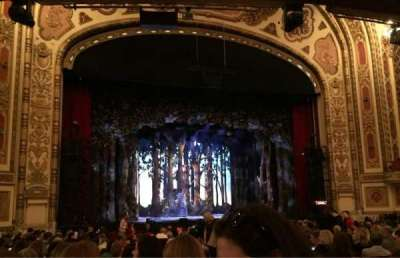 Cadillac Palace Theater, section: Orchestra L, row: S, seat: 3