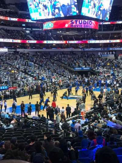 American Airlines Center, section: 122, row: V, seat: 12