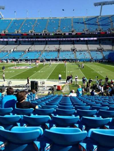 Bank of America Stadium, section: 130, row: 15, seat: 21