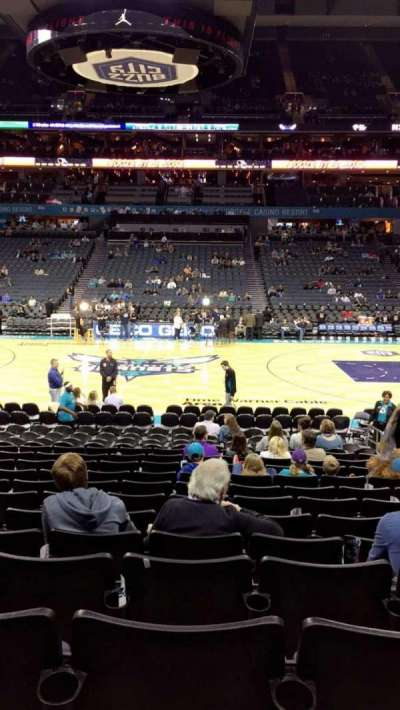 Spectrum Center, section: 114, row: M, seat: 8