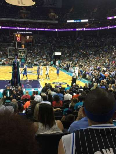 Spectrum Center, section: 109, row: J, seat: 14