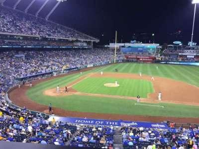 Kauffman Stadium, section: 316, row: A, seat: 3