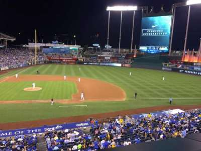 Kauffman Stadium, section: 316, row: A, seat: 3