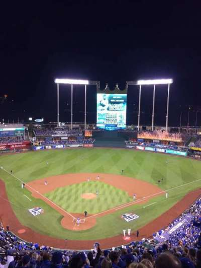 Kauffman Stadium, section: 421V, row: EE, seat: 10