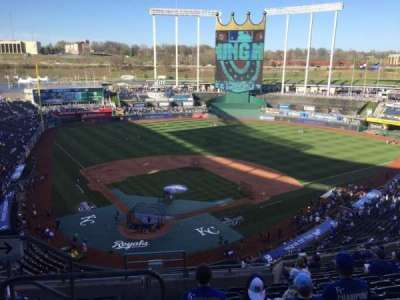 Kauffman Stadium, section: 423, row: S, seat: 1