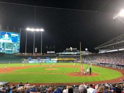 Kauffman Stadium, section: 124, row: M, seat: 10