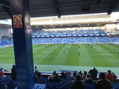 Ibrox Park, section: MRD, row: A, seat: 0121