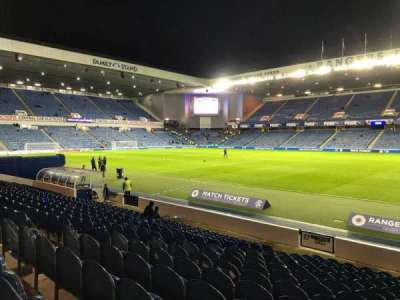 Ibrox Park, section: SE4, row: Q, seat: 098