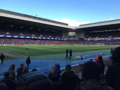Ibrox Park, section: SW5, row: H, seat: 0291