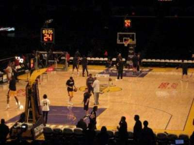 Staples Center, section: 115, row: 9, seat: 19