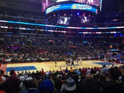 Staples Center, section: 102, row: 15, seat: 16