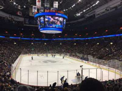 Rogers Arena, section: 101, row: 19, seat: 8