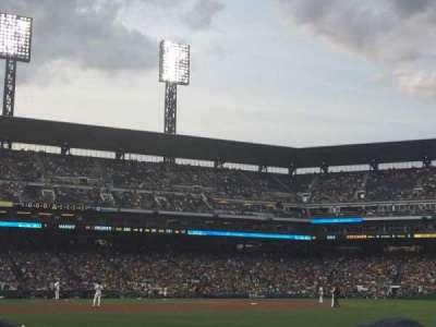 PNC Park, section: 1, row: F, seat: 9